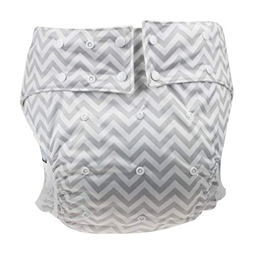 Q&M volwassen luier verstelbare doek luier ondergoed wasbare luier bevochtiging incontinentie luier invoert luier broek