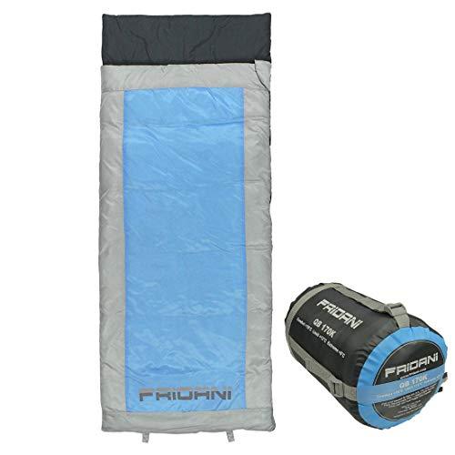 Fridani Kinderschlafsack QB 170 x 70cm Deckenschlafsack +6 °C Blau warm wasserabweisend waschbar