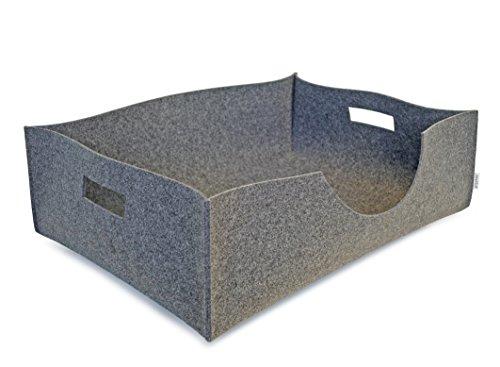 greybax BOB Hundekorb, Hundebett, Haustierbox, Filzkorb, Hundeschlafplatz
