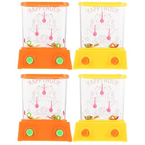 Balacoo 4Pcs Handheld Wasser Spiele Arcade Wasser Ring Wasser Tisch Wasser Werfen Ring Spielzeug Spaß Party Favor für Strand Spaß Geschenke