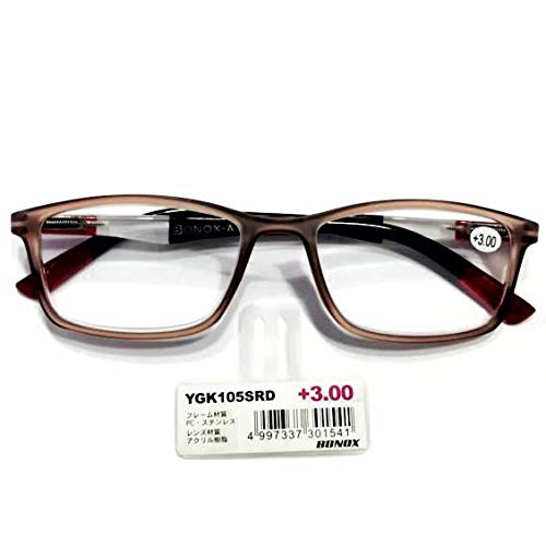 YGK105/BONOX/ダルトン/おしゃれ/老眼鏡/シニアグラス/Reading Glasses/ (1.0, SRD/SMOKE_RED)
