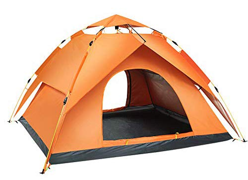 KKING Outdoor Pop-Up Tent, Dome Sun-Proof And Ventilated Multifunctional Shelter, Can Accommodate 3 To 4 People, Suitable for Camping,Orange