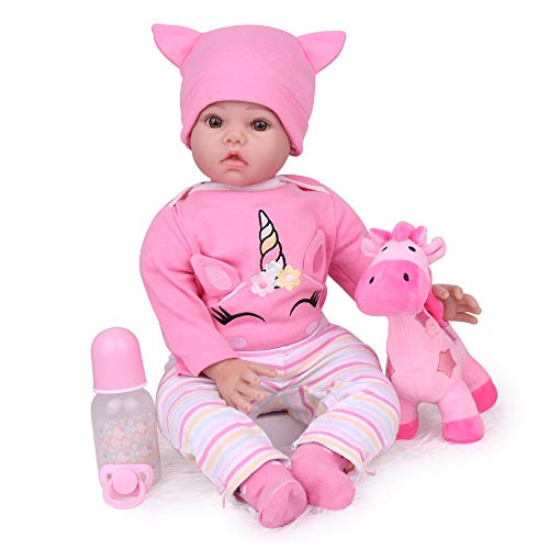 CHAREX Reborn Baby Dolls Realistic Handmade Soft Vinyl Baby Reborn Dolls ,22 Inch Weighted Real Reborn Dolls for Age 3+