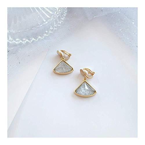 ZJL Simplicidad Elegante Opal Stud Pendientes Plata de Ley 925 Geométrica en...