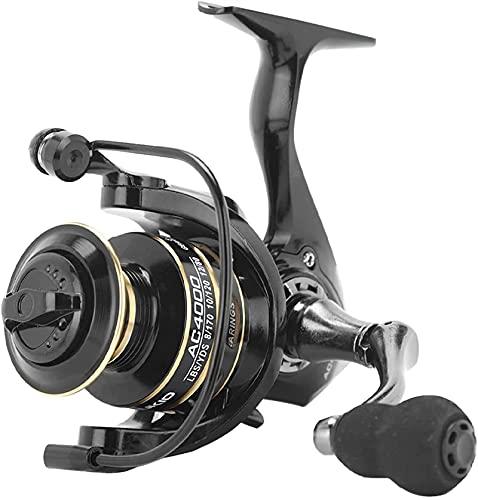 Carrete de Pesca 2021 Nueva Rueda giratoria 5.2: 1 Mango Ajustable de Carrete de Metal Resistente al Desgaste de Alta Velocidad (Color: Serie 4000)