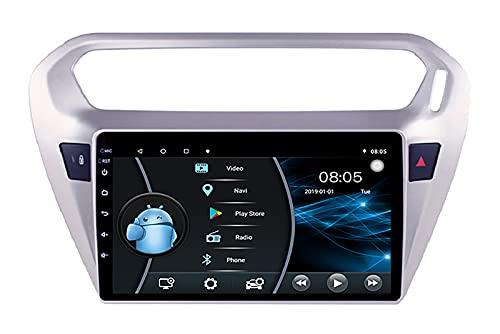 AEBDF Android 10,0 Autoradio navegación GPS Control del Volante Reproductor Multimedia Unidad Principal estéreo para Peugeot 301 2013 2014 2015 2016,6 Core WiFi 4G 2+32(1din)