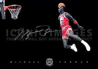 (11.7 X 8.3) Michael Jordan NBA Chicago Bulls Signed Print (Pre-print Autograph)