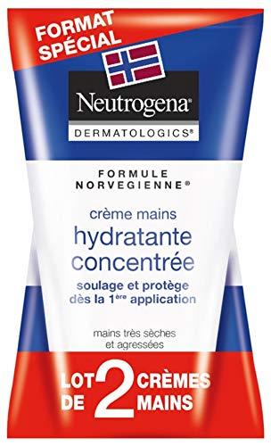 Neutrogena Crème Mains Hydratante concentrée, Formule Norvégienne, 50ml, Lot de 2