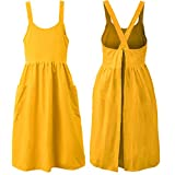 Cross Back Linen Kitchen Apron for Cooking Smock Bib Apron with Pockets for Women DIY Project, Crafting, Cooking, Baking Gardening