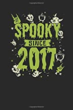 Spooky Since 2017: Graph Paper Notebook – Birthday Gift or Happy Halloween Gift for Women, Men, Kids and Teacher