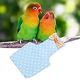 Soft Bird Flight Suits, Reusable Lightweight Bird Diaper, Inner Pocket Design for Pet Bird Shows Pet Bird Photo Prop Cockatiel(Blue, S)