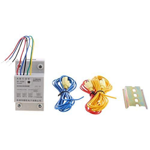 SUCHUANGUANG DF-96ED Interruptor Controlador de Nivel de Agua automático 10A 220V Sensor de detección de Nivel de líquido del Tanque de Agua Interruptor de Nivel del Controlador de Bomba de Agua