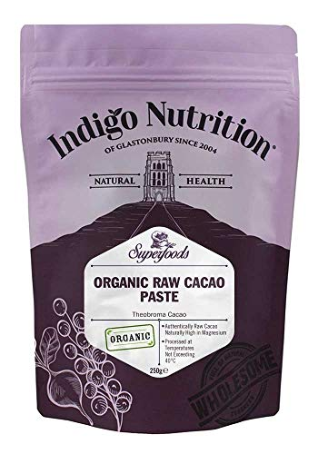 Indigo Herbs Pasta di Cacao Crudo Biologico 250g