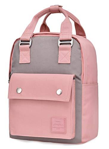HotStyle BASIC PACKS EST. 2010 ARROSA MINI Rucksack für Frauen und Mädchen, kleiner wasserabweisender Tagesrucksack niedlich für jeden Tag, Rosa/grau
