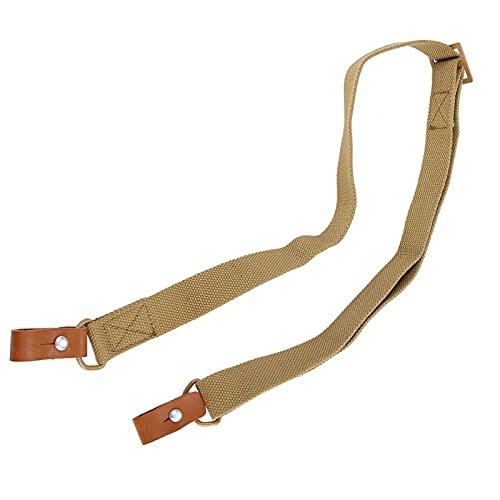 SALUTUYA Cinturón de Pistola de Mano Libre Nylon + Piel de Vaca Durable, Adecuado para Accesorios de protección Deportiva(Mud Color)