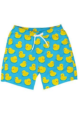 Men's Light Blue Rubber Ducky Swim Trunks - Blue Rubber Duck Board Shorts