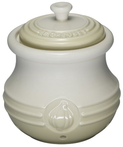 Our #5 Pick is the Le Creuset Stoneware Garlic Keeper