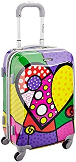 pink heart luggage