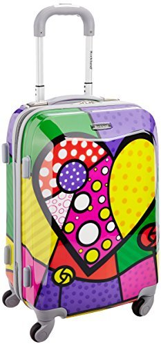 Rockland Vision Hardside Spinner Wheel Luggage, Heart, Carry-On 20-Inch