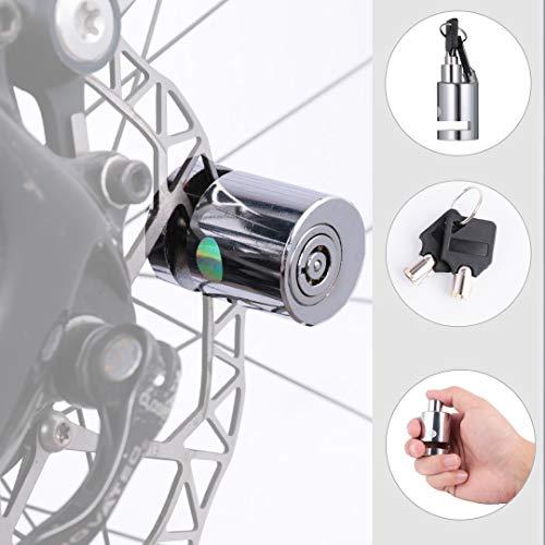 Bike Lock Mini Disc Brake Lock Bicycle Anti-Theft Lock Security Padlock for Motorcycles, Bicycles,Bike, Electrombile, Electric Car, Rust-Proof and Durable, Motorcycle, Motorbike Disc Brake Lock