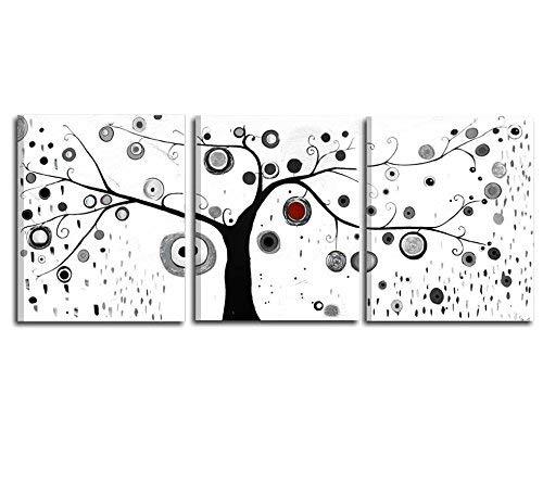 I Colori del Caribe Quadri COMPONIBILI TRITTICI Bianco Nero con Alberi Composizione TRITTICO Bianco Nero Alta QUALITA' Made in Italy - Albero dei Sogni 6
