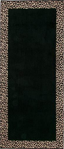 Möve Strandtuch Animal Jacquard schwarz-beige Größe 80x180 cm