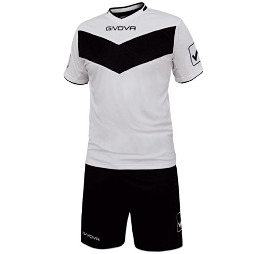 GIVOVA KIT VITTORIA MC Fußball-Set Trikot + Hose white/black 2XL (KITT04)
