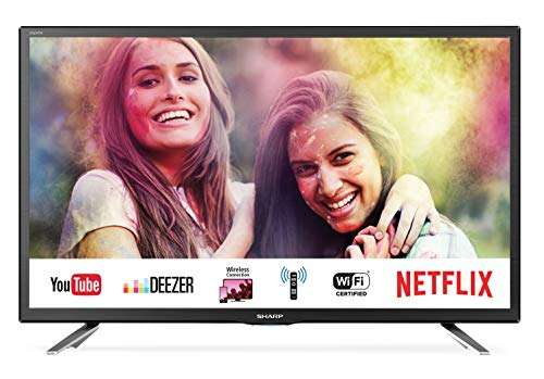 "Sharp Aquos LC-24CHG6132E - 24"" Smart TV HD Ready LED TV, Wi-Fi, DVB-T2/S2, 1366 x 768 Pixels, Nero, 2xHDMI 1xUSB, 2019"