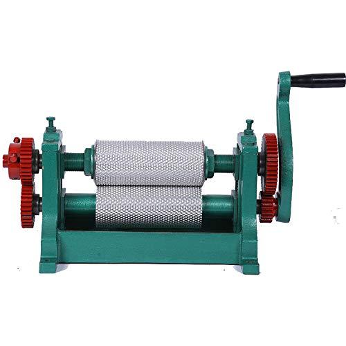YiFun Trade 86 x 195 mm Manueller Bienenwachs Kamm Foundation Roller Mill Maschine Bienenwachsrollen Stempel Druckmaschine Zellgröße 5,4 mm/4,9 mm/4,8 mm optional, BFM195E, 4.8mm