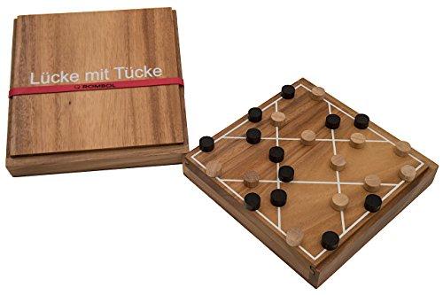 ROMBOL Lücke mit Tücke (Hartmut Kommerell, Deutschland 2016), Taktikspiel, Familienspiel, Holzspiel, Gesellschaftsspiel für 2 Personen, Brettspiel, Holz-Spiel