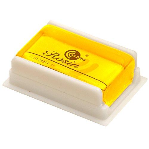 Elagon (601) erstklassiges, hochwertiges, durchsichtiges, gelbes, staubfreies Kolophonium Künstlerlob für Violine, Geige, Viola, Cello, Kontrabass, usw. in plastischer Schachtel.
