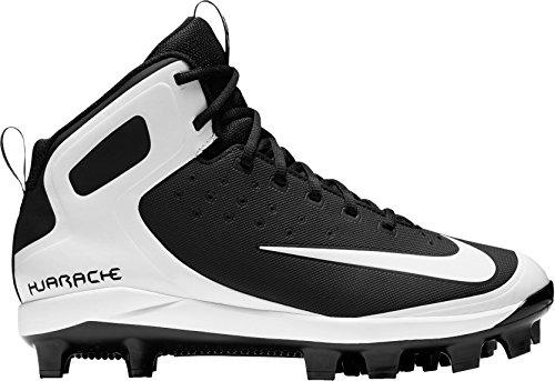 Nike Men's Alpha Huarache Pro Mid Baseball Cleats(Black/White, 6.5 D(M) US)