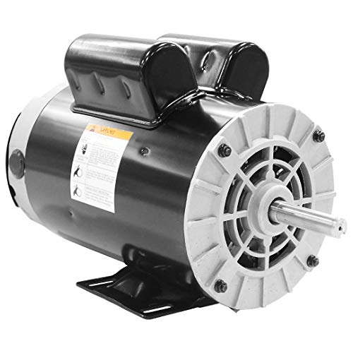 NEW 2 HP SPL Compressor Duty Electric Motor, 3450 RPM, 56 Frame, 5/8' Shaft Diameter,120/240 VOLT
