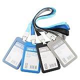 TOOHUI 4 pezzi Porta-badge e Porta-carte, Carte d' identità Case con Cordino, ID Carte co...