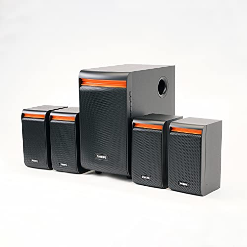 Philips Audio SPA8140B/94 50W 4.1 Channel Multimedia Speaker System, Black
