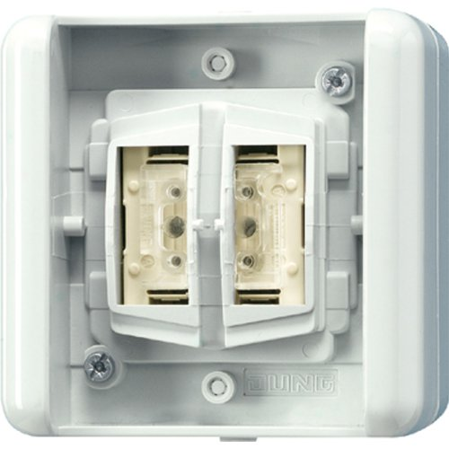 JUNG 8472.02 LED W interruptor eléctrico Pushbutton switch Blanco - Accesorio cuchillo eléctrico (Pushbutton switch, Alámbrico, Blanco)