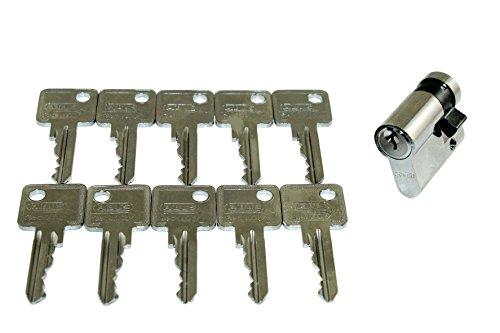 ABUS Halbzylinder C83N 30mm (Gesamtlänge 40mm) mit 10 Schlüsseln je Zylinder!!! Gleichschließend kostenlos!