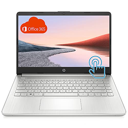 HP Premium Laptop (2021 Latest Model), 14' HD Touchscreen, AMD Athlon Processor, 8GB RAM, 192GB SSD, Long Battery Life, Online Conferencing, Natural Silver, Win 10 with 1 Year of Microsoft 365