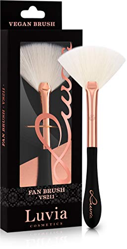 Luvia Fächerpinsel Kosmetik Highlighter – Vegan Signature VS211 Fan Brush Schwarz/Rosegold