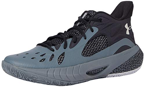 Under Armour Unisex HOVR Havoc 3 Basketball Shoe, Pitch Gray (101)/Black, 10.5 US Men