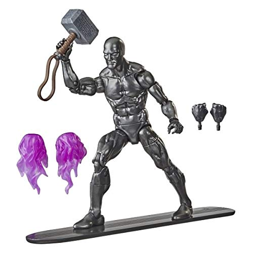 Marvel Legends Hasbro Series Avengers 15-cm Collectible Action Figure Toy Silver Surfer with 6 Accessories
