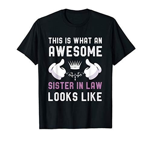 awesome sister in law Birthday Gift Cool Sisters in Law Tee T-Shirt