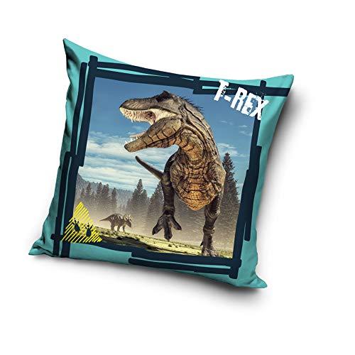 Une T-Rex 203002 - Funda de cojín (40 x 40 cm), diseño de dinosaurios