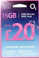 「O2 」O2 【イギリス含むヨーロッパ各国対応】プリペイド シムカード ヨーロッパ用 15GB ヨーロッパ、アジア、アメリカ使用可能(15GB さらに現地通話無制限 3000 SMS 30日間)