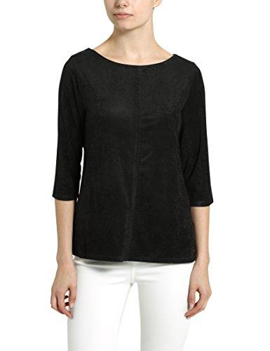 Berydale Camiseta de mujer con mangas tres cuartos, Negro, XS