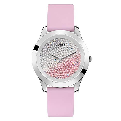 GUESS Reloj Analógico para Mujer de Cuarzo con Correa en Silicone W1223L1