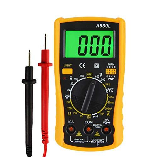 HYY-YY Multímetro digital de mano del amperímetro del voltímetro con luz de fondo