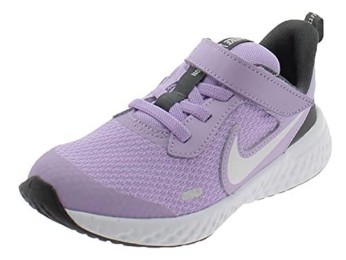 Nike Revolution 5, Scarpe da Tennis Unisex-Bambini, Lilac/Metallic Silver-Dk Smoke Grey, 34 EU