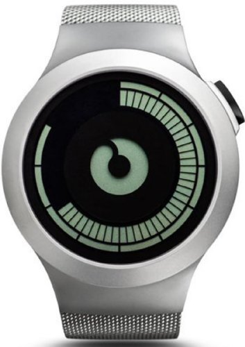 Ziiiro Saturn Chrome Design Digital Uhr Herrenuhr