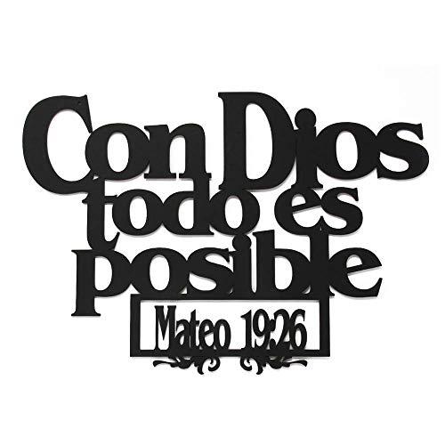 MEMORY MATS & WORD ART Con Dios Todo ES Posible